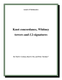 """Đề tài """"  Knot concordance, Whitney towers and L2-signatures """""""