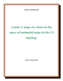 "Đề tài ""  Axiom A maps are dense in the space of unimodal maps in the Ck topology """