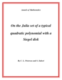 """Đề tài """" On the Julia set of a typical quadratic polynomial with a Siegel disk """""""