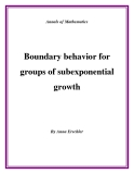 "Đề tài ""Boundary behavior for groups of subexponential growth """