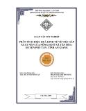 Đề tài: Phân tích hiệu quả kinh tế về việc sản xuất Nếp của nông hộ ở xã Tân Hòa, huyện Phú Tân –An Giang