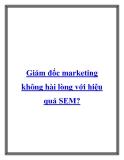 Giám đốc marketing không hài lòng với hiệu quả SEM?