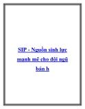SIP - Nguồn sinh lực mạnh mẽ cho đội ngũ bán h