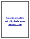 Chỉ số đo lường hiệu suất – Key Performance Indicator (KPI)