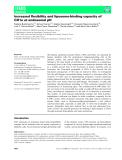 Báo cáo khoa học: Increased flexibility and liposome-binding capacity of CD1e at endosomal pH