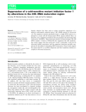 Báo cáo khoa học: Suppression of a cold-sensitive mutant initiation factor 1 by alterations in the 23S rRNA maturation region