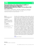 Báo cáo khoa học: Stereoselectivity and conformational stability of haloalkane dehalogenase DbjA from Bradyrhizobium