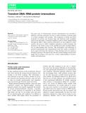 Báo cáo khoa học: Transient DNA ⁄ RNA-protein interactions