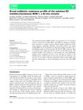 Báo cáo khoa học: Broad antibiotic resistance profile of the subclass B3 metallo-b-lactamase GOB-1, a di-zinc enzyme