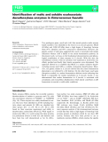 Báo cáo khoa học: Identification of malic and soluble oxaloacetate decarboxylase enzymes in Enterococcus faecalis