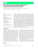 Báo cáo khoa học: Characterization of heme-binding properties of Paracoccus denitrificans Surf1 proteins