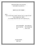 """Luận văn """"RÀO CẢN KỸ THUẬT TRONG THƯƠNG MẠI CỦA MỘT SỐ NƯỚC CÔNG NGHIỆP PHÁT TRIỂN VÀ CÁC BIỆN PHÁP GIÚP VIỆT NAM VƯỢT RÀO CẢN  """""""