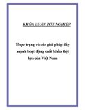 """Luận văn """"  Thực trạng và các giải pháp đẩy mạnh hoạt động xuất khẩu thịt lợn của Việt Nam """""""