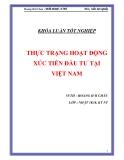 """Luận văn """" THỰC TRẠNG HOẠT ĐỘNG XÚC TIẾN ĐẦU TƯ TẠI VIỆT NAM """""""