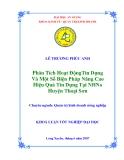 Luận văn: Phân tích hoạt động tín dụng và một số biện pháp nâng cao hiệu quả tín dụng tại ngân hàng huyện Thoại Sơn