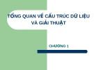 CÂU TRÚC DỮ LIỆU VÀ GIẢI THUẬT - CHƯƠNG 1 TỔNG QUAN VỀ CẤU TRÚC DỮ LIỆU VÀ GiẢI THUẬT