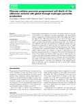 Báo cáo khoa học: Glucose oxidase prevents programmed cell death of the silkworm anterior silk gland through hydrogen peroxide production