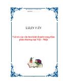 LUẬN VĂN: Vai trò của văn hoá kinh doanh trong đàm phán thương mại Việt - Nhật