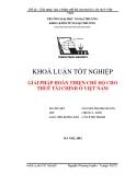 Luận văn:Giải pháp hoàn thiện chế độ cho thuê tài chính ở Việt Nam