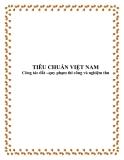 Tiêu chuẩn Việt Nam:Công tác đất –quy phạm thi công và nghiệm thu