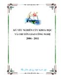 KỶ YẾU NGHIÊN CỨU KHOA HỌC VÀ CHUYỂN GIAO CÔNG NGHỆ 2006-2011