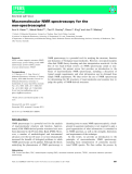Báo cáo khoa học: Macromolecular NMR spectroscopy for the non-spectroscopist