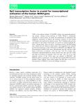 Báo cáo khoa học: Sp3 transcription factor is crucial for transcriptional activation of the human NOX4 gene