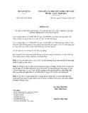 Thông tư số 03/2012/TT-BXD