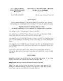 Quyết định số 104/QĐ-BCĐGNBV