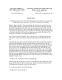 Thông báo số 4689/TB-BNN-VP
