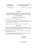 Quyết định số 60/2012/QĐ-UBND