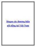 Slogan các thương hiệu nổi tiếng tại Việt Nam