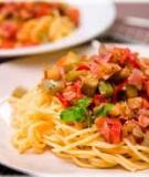 Mì Ý với cà tím xào cay