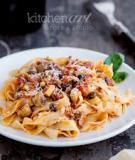 Mì Ý xốt ragu thịt bò và nấm