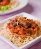 Pasta cá ngừ sốt cà chua