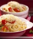 Spaghetti bí ngòi cà chua bi