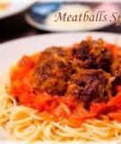 Spaghetti xốt cà chua thịt viên