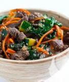 Thịt bò xào bí xanh rau cải