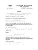 Nghị định số 85/2012/NĐ-CP