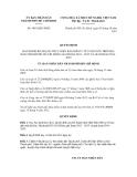 Quyết định số 5063/QĐ-UBND