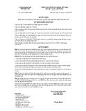 Quyết định số 40/2010/QĐ-UBND
