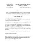 Quyết định số 81/2012/QĐ-UBND