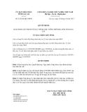 Quyết định số 23/2012/QĐ-UBND