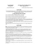 Quyết định số 2077/2012/QĐ-UBND