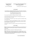 Quyết định số 2197/2012/QĐ-UBND