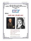 Đề tài:Triết học cổ điển Đức