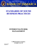 STANDARDS OF SOUND BUSINESS PRACTICES - INTEREST RATE RISK MANAGEMENT