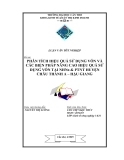 Đề tài: PHÂN TÍCH HIỆU QUẢ SỬ DỤNG VỐN VÀ CÁC BIỆN PHÁP NÂNG CAO HIỆU QUẢ SỬ DỤNG VỐN TẠI NHNo & PTNT HUYỆN CHÂU THÀNH A – HẬU GIANG