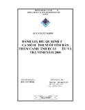 Luận văn tốt nghiệp: So sánh hiệu quả kinh tế của mô hình nuôi tôm bán thâm canh ở tỉnh Trà Vinh và Bạc Liêu năm 2008