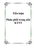 Tiểu luận Phân phối trong nền KTTT